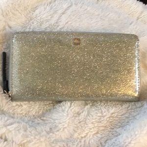 ♠️Kate Spade Glitterbug silver wallet ♠️